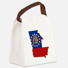 Georgia Flag Canvas Lunch Bag