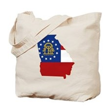 Georgia Flag Tote Bag