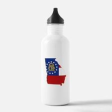 Georgia Flag Water Bottle