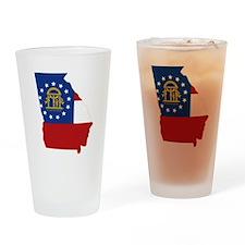 Georgia Flag Drinking Glass