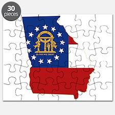 Georgia Flag Puzzle