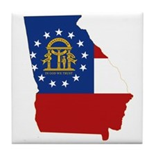 Georgia Flag Tile Coaster