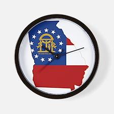 Georgia Flag Wall Clock