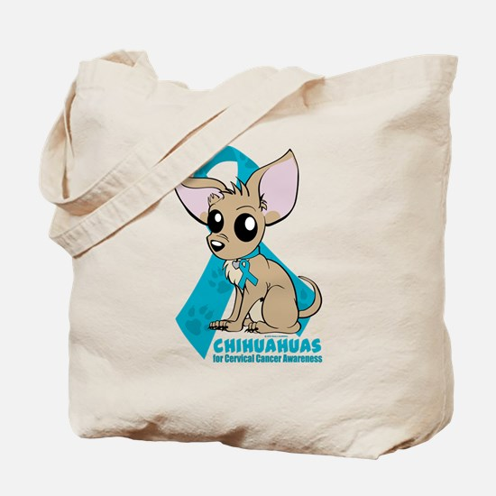 Chihuahuas for Cervical Cancer Tote Bag