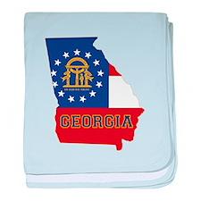 Georgia Flag baby blanket
