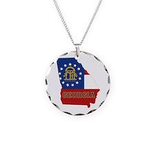 Georgia Flag Necklace