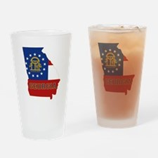Georgia Flag Drinking Glass