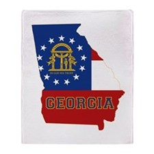 Georgia Flag Throw Blanket
