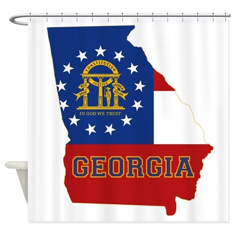 Georgia Flag Shower Curtain