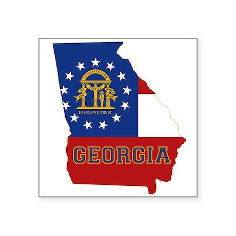 """Georgia Flag Square Sticker 3"""" x 3"""""""