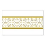 Queen Of Hearts Crown Tiara Pattern Sticker