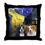 Cafe Dogs Throw Pillow