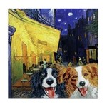 Cafe Dogs Tile Coaster
