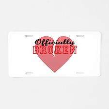Officially Broken Aluminum License Plate