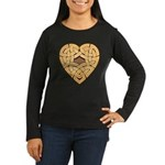 Chonoska Heartknot Women's Long Sleeve Dark T-Shir