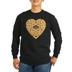 Chonoska Heartknot Long Sleeve Dark T-Shirt