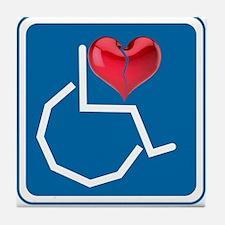 Emotionally Handicapped Tile Coaster