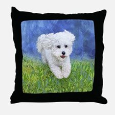 Funny Bichon frise Throw Pillow