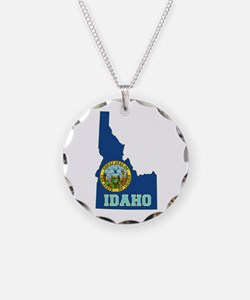 Idaho Flag Necklace