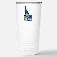 Idaho Flag Stainless Steel Travel Mug