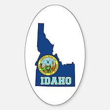 Idaho Flag Sticker (Oval)