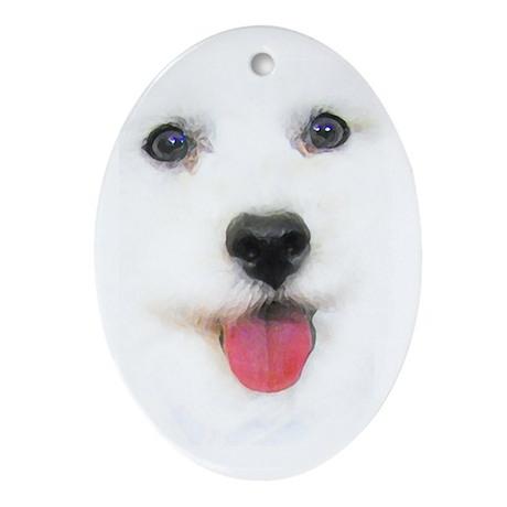 Bichon face Oval Ornament