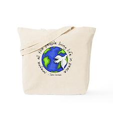 Cute Peace symbol Tote Bag