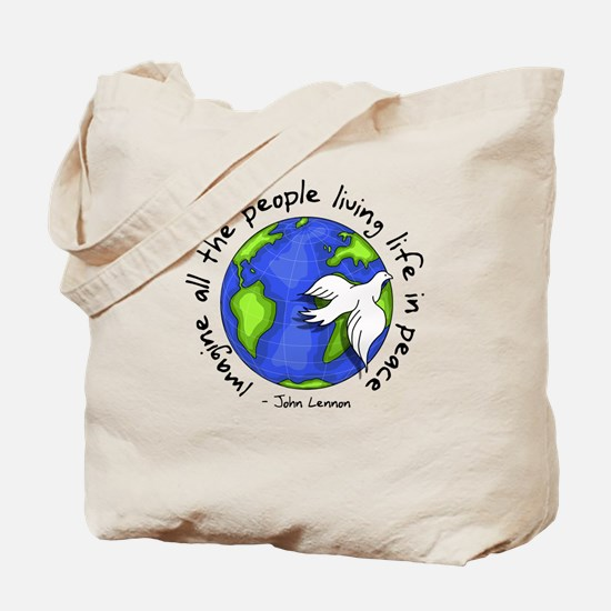 Cute Peace Tote Bag