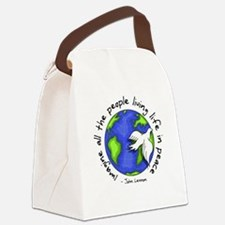 Cute Peace Canvas Lunch Bag