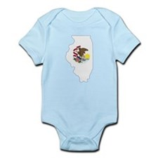 Illinois Flag Infant Bodysuit