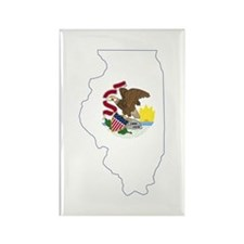Illinois Flag Rectangle Magnet