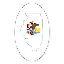 Illinois Flag Decal