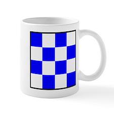 November Blue and White Check Mug
