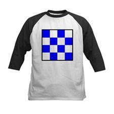 November Blue and White Check Tee