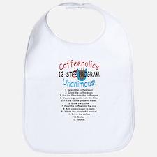 Coffeeholics 12-step Bib