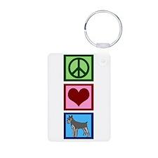 Peace Love Schnauzers Keychains