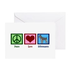 Peace Love Schnauzers Greeting Card