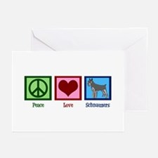 Peace Love Schnauzers Greeting Cards (Pk of 20)