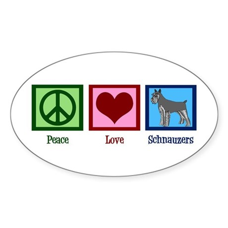 Peace Love Schnauzers Sticker (Oval)