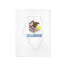 Illinois Flag 5'x7'Area Rug