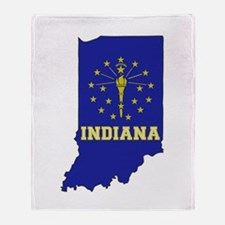Indiana Flag Throw Blanket