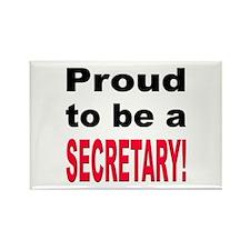 Proud Secretary Rectangle Magnet (10 pack)