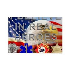Real Heroes Civilian Rectangle Magnet