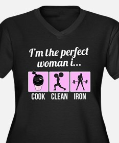 cook, clean, iron Plus Size T-Shirt