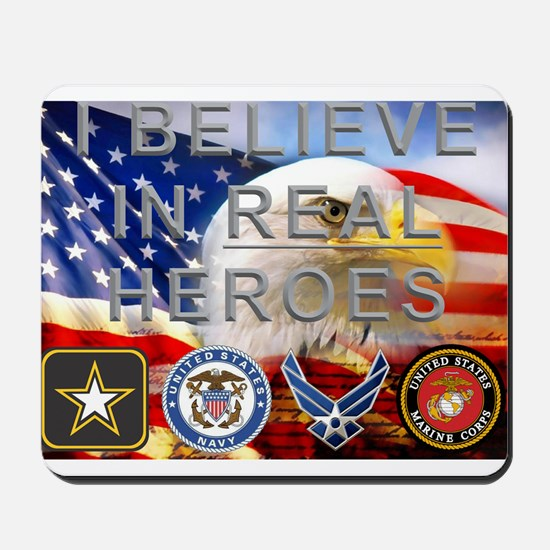 Real Heroes Military Mousepad