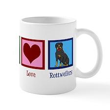 Peace Love Rottweilers Mug