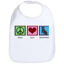 Peace Love Rottweilers Bib