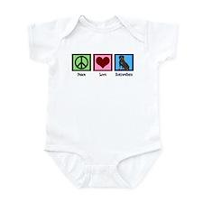 Peace Love Rottweilers Infant Bodysuit