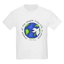 imagine_world_life_peace_dark.png T-Shirt