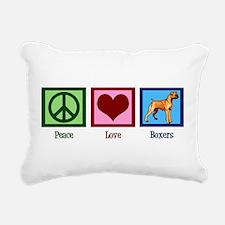 Peace Love Boxers Rectangular Canvas Pillow